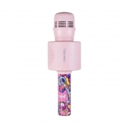 Microfone Teen Star Bluetooth Infantil Rosa MK301 OEX###