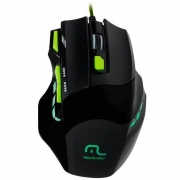 Mouse Gamer 2400dpi 7 Botões com Led Verde###