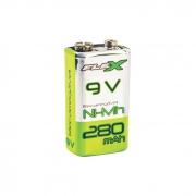 Pilha Bateria Flex Recarregável 9V 280mAh