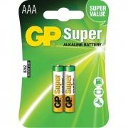 Pilha GP Super Alcalina AAA 1.5V Palito com 2 Unidades###