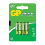 Pilha Zinco GP Greencell AAA 1.5V Palito com 4 Unidades###