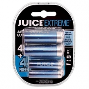 Pilhas Recarregáveis Juice extreme 4 AA e 4 AAA***