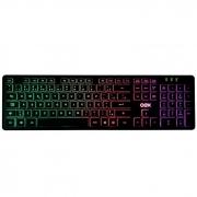 Teclado Gamer OEX Rainbow Flat iluminação LED USB
