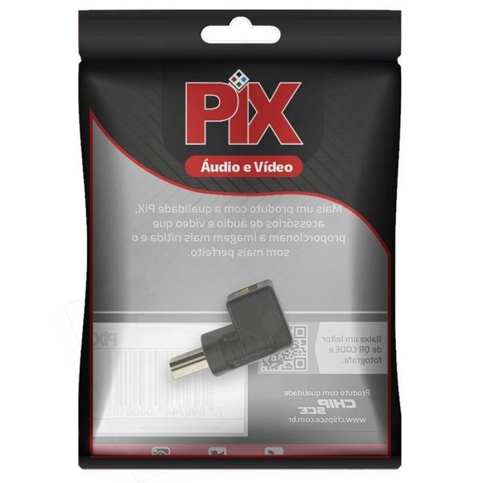 Adaptador HDMI em L (M) x (F) 90 graus