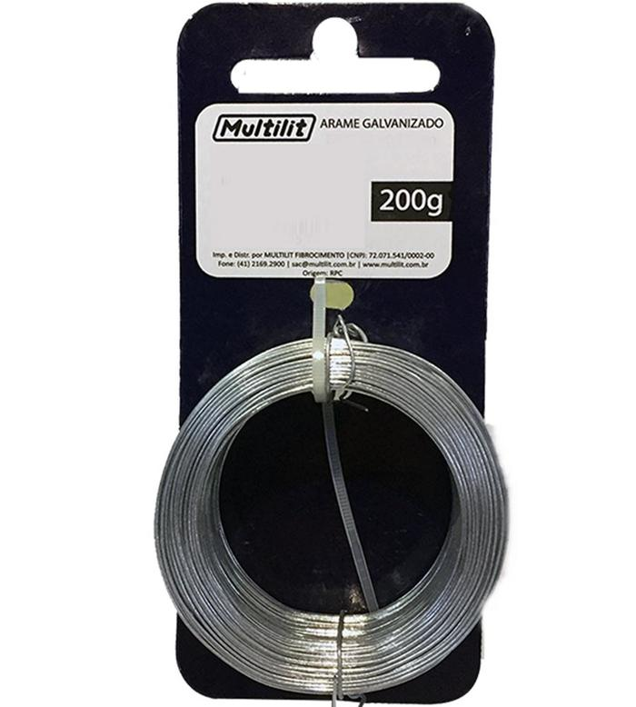 Arame Galvanizado BWG 18 1,24mm 200g multilit