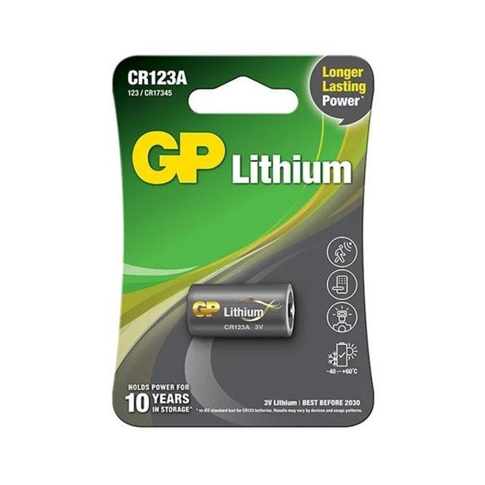 Bateria de Lítio CR123A 3V GP Cartela c/ 1 Unidade
