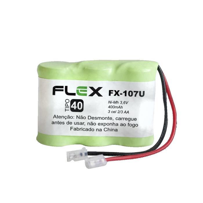 Bateria Recarregável p/ Telefone Sem Fio 3,6V 400mAh FX-107U