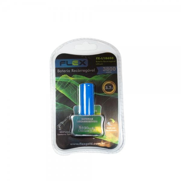 Bateria Recarregável para Lanterna 18650 Flex