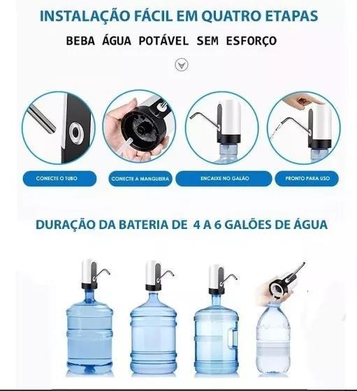 Bebedouro Bomba Elétrica P/ Galão Água Recarregável*
