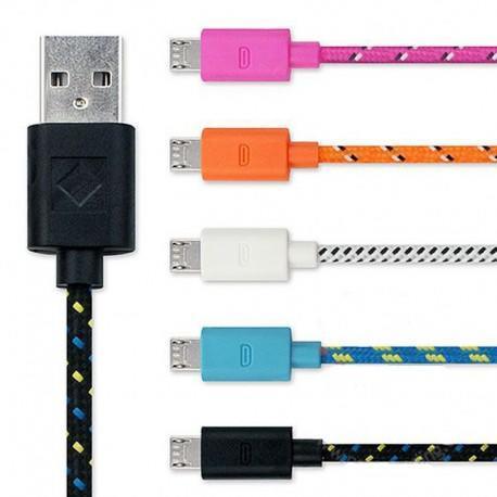 Cabo USB Micro x USB (M/M) 1M Colorido###