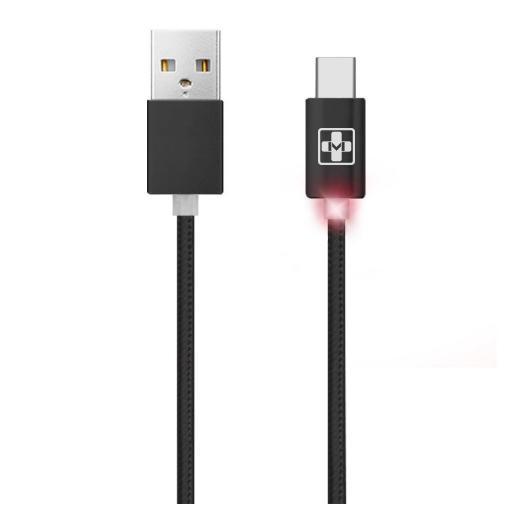 Cabo USB Tipo C 1m em Malha Mais Mania