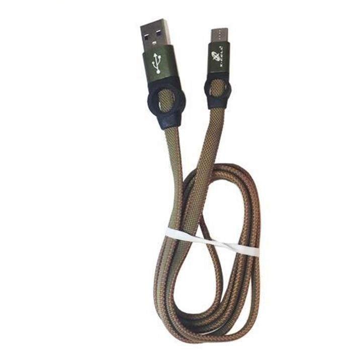 Cabo USB x Tipo C 1M Flat em Nylon X-Cell
