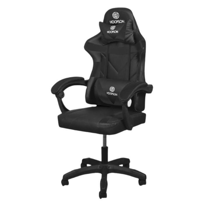 Cadeira Gamer Giratoria Ajustável Preto/Preto Hoopson