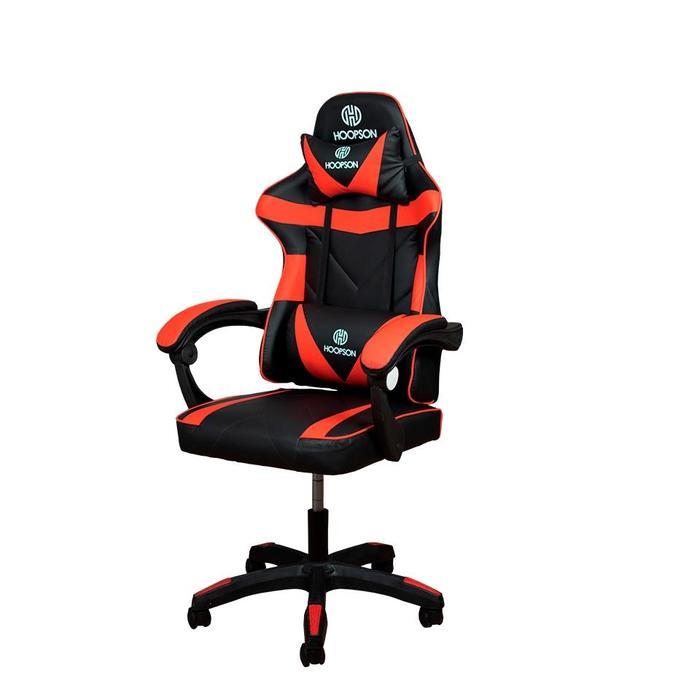 Cadeira Gamer Giratoria Ajustável Preto/Vermelho Hoopson