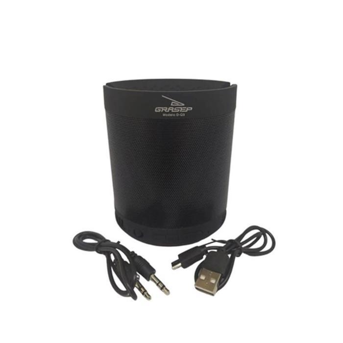 Caixa De Som Bluetooth 8W FM USB Micro SD D-Q3 Preta