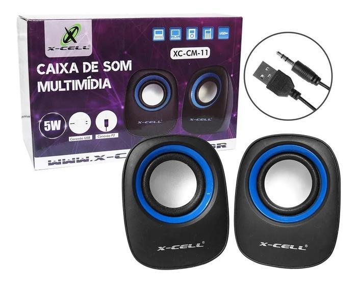Caixa de Som USB 5W RMS X-Cell XC-CM-11###