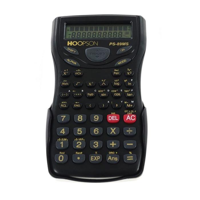 Calculadora Científica Preta PS-89MS Hoopson*