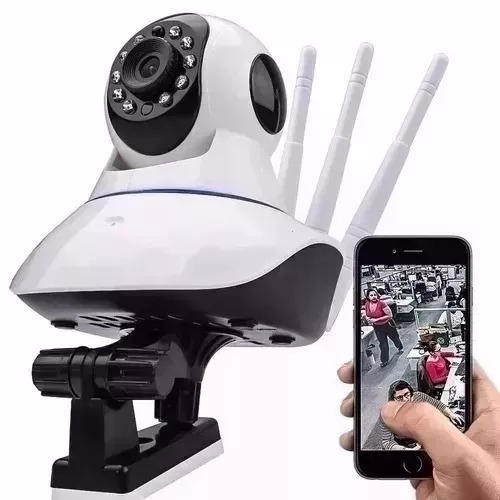 Câmera IP Wireless 3 Antenas entrada p/ cartão de memória*