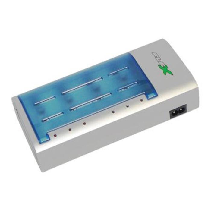 Carregador de Baterias AA/AAA/C/D/9V Recarregáveis Flex
