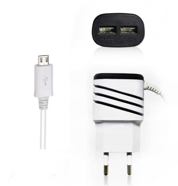 Carregador de Tomada Micro USB 3.1A com 2 USB###