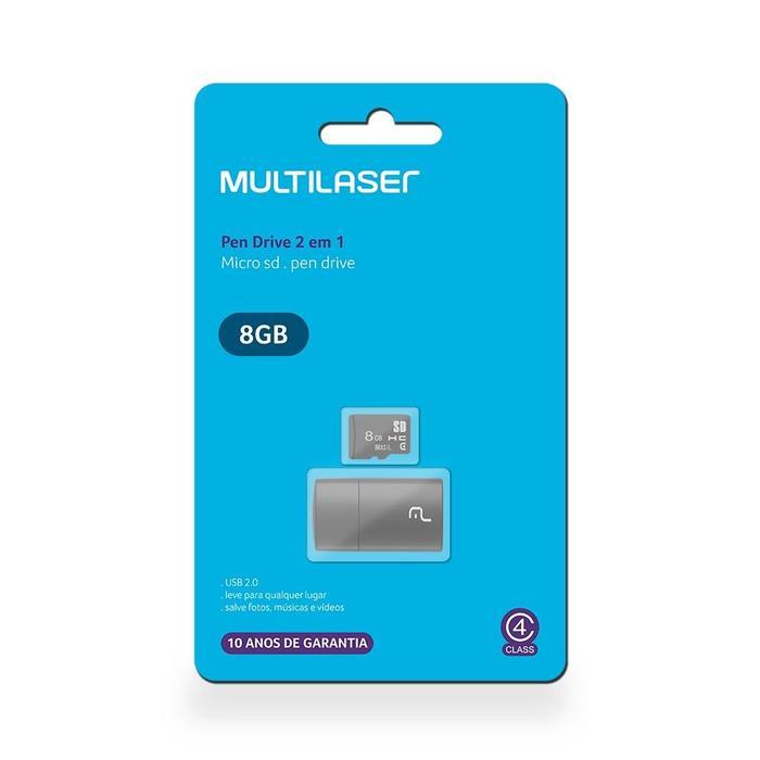 Cartão de Memória MicroSD 8GB Classe 4 c/ Leitor USB###