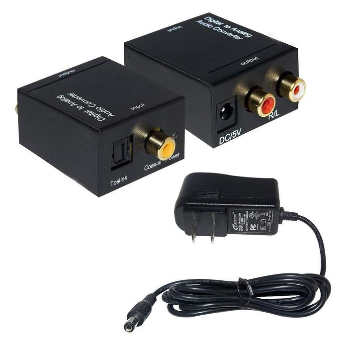 Conversor de Áudio Óptico Toslink x RCA