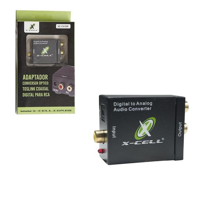 Conversor de Áudio Óptico Toslink x RCA X-Cell