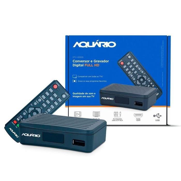 Conversor Digital de TV Aquário DTV4000S###