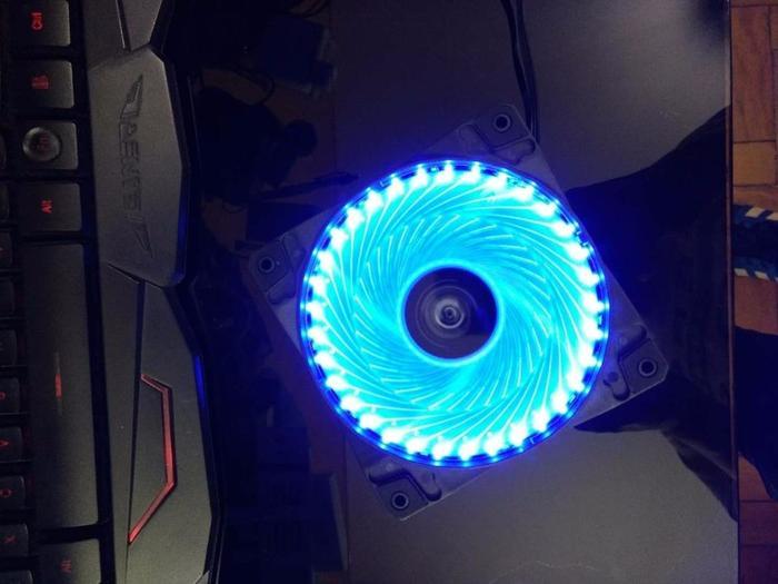 Cooler Fan 12cm com LED Azul Hoopson CL-033A*
