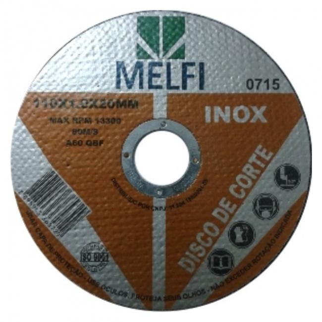 Disco de corte p/ Inox 110 X 1,0 X 20mm c/ 10 Unidades*