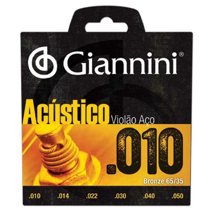 Encordoamento em Aço C/ Bolinhas P/ Violão Giannini .010*