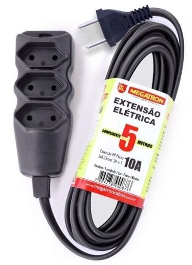 Extensão Elétrica 3 Tomadas 2P/10A 5 metros