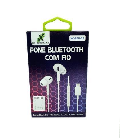 Fone de Ouvido Bluetooth com Fio Conector Lightning