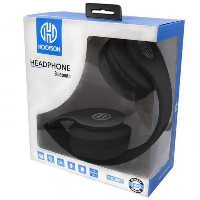 Fone de Ouvido Headphone Bluetooth P2 Micro SD FM F-038PT###