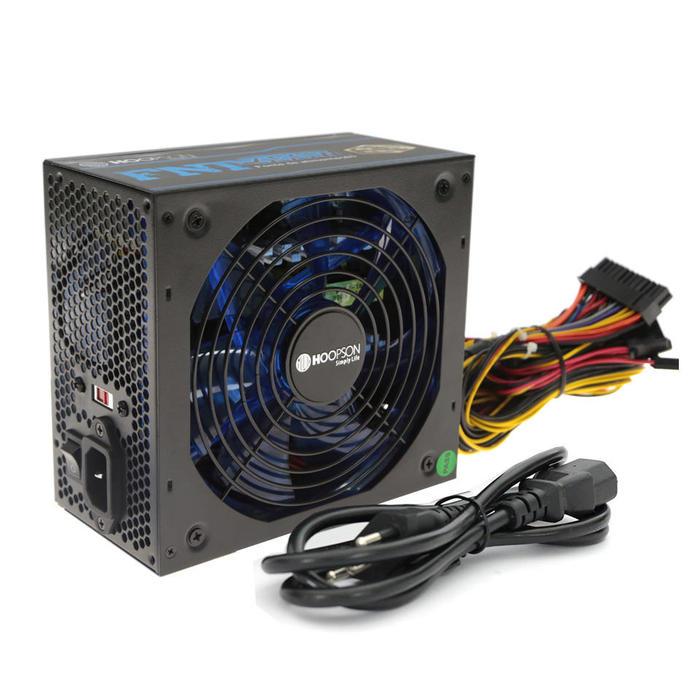 Fonte ATX Real 650W Cooler Led RGB PFC Negativo Hoopson###