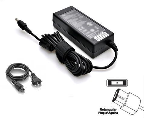 Fonte Carregador Note 20V 4,5A Plug Retangular P/ Lenovo