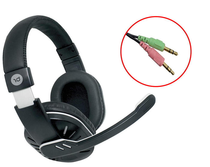 Headphone Headset Gamer P2 c/Microfone Preto Bright 0181###