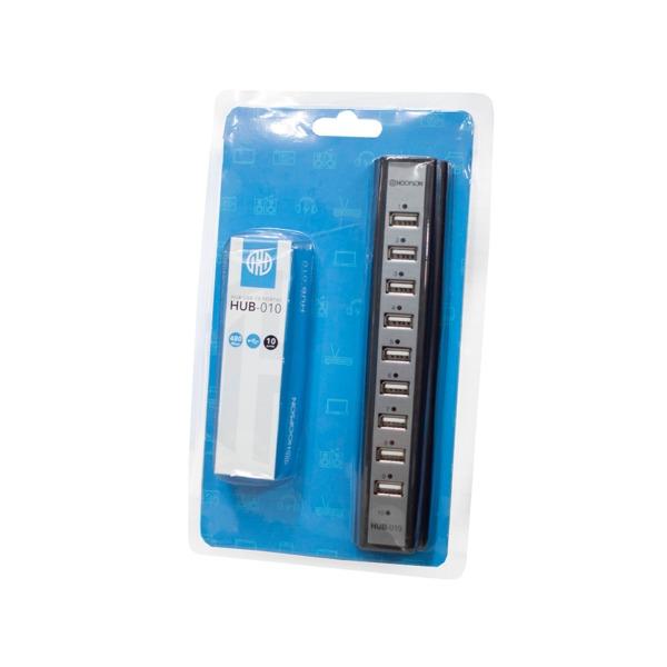 Hub USB 10 Portas c/ Fonte de Alimentação