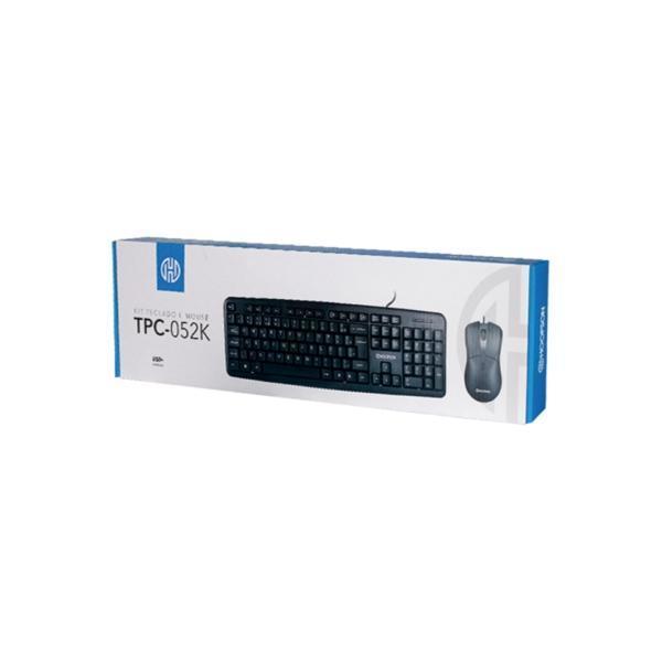 Kit Teclado e Mouse USB Preto Hoopson TPC-052K###