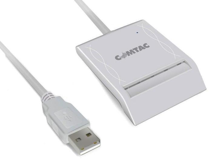 Leitor e Gravador de Cartões Smart Card USB 2.0 Comtac