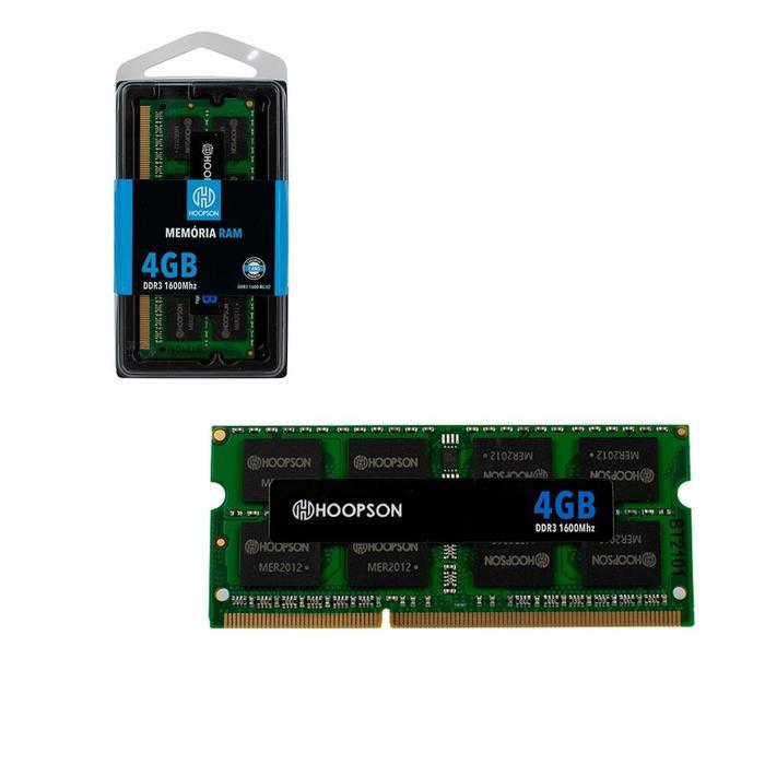 Memória Ram 4Gb DDR3 1600Mhz Hoopson###