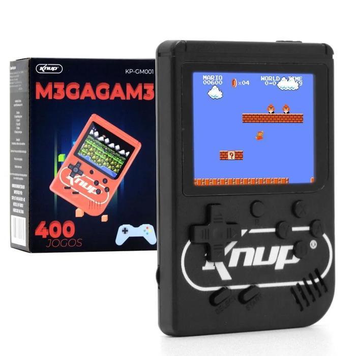 Mini Game Portátil Retro 400 Jogos Super Console
