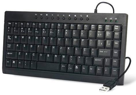 Mini Teclado Multimídia USB