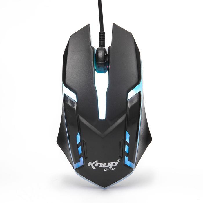 Mouse Gamer 1600DPI 3 botões Knup KP-v40 Preto