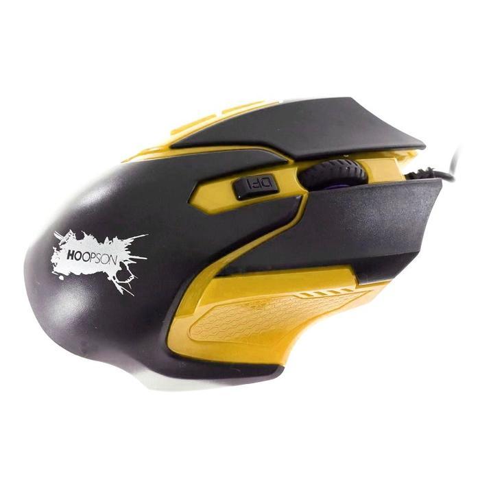 Mouse Gamer 2400dpi 5 Botões Hoopson GX-57 Amarelo***