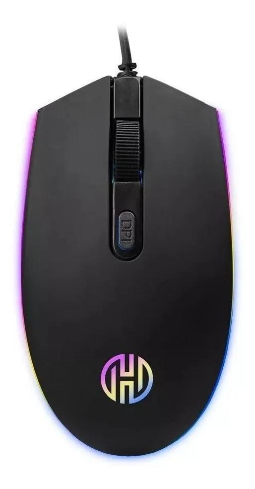 Mouse Gamer C/ Rgb Gt-1200 Black Bird Hoopson