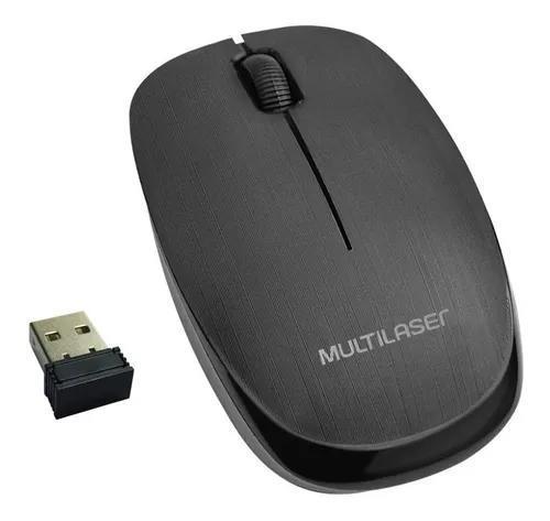 Mouse Óptico Sem Fio Wireless 1200dpi 2.4Ghz Multilaser