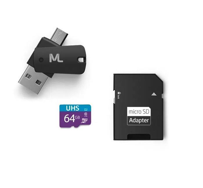 Pen Drive OTG 4 em 1 64GB Multilaser###