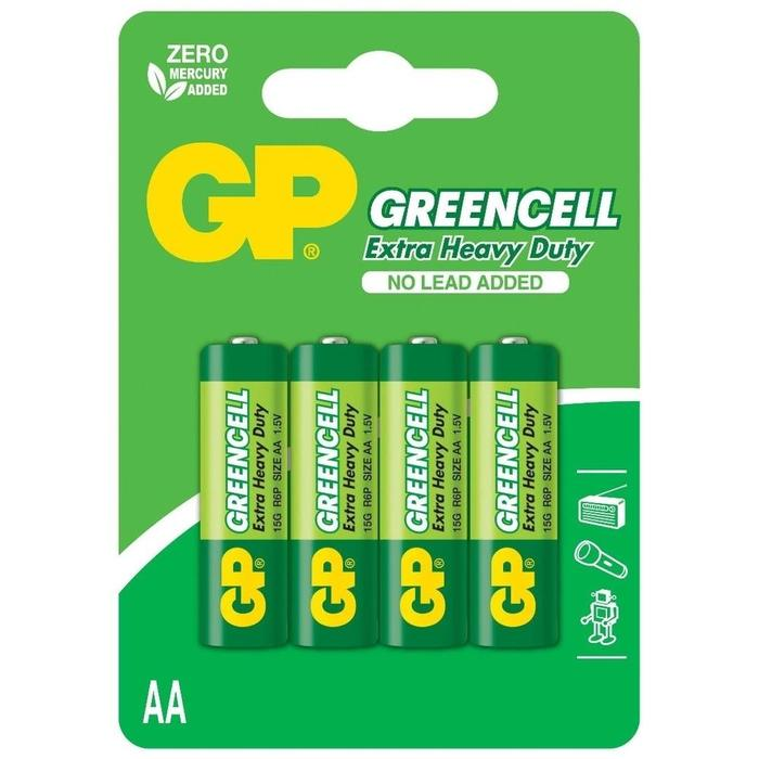 Pilha AA Zinco GP GreenCell Blister c/ 4 unidades###