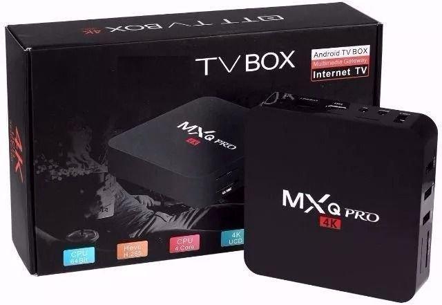 TV Box MXQ PRO 4GB RAM e 64GB ROM 4K/Hdmi/WI-FI Android 10.1